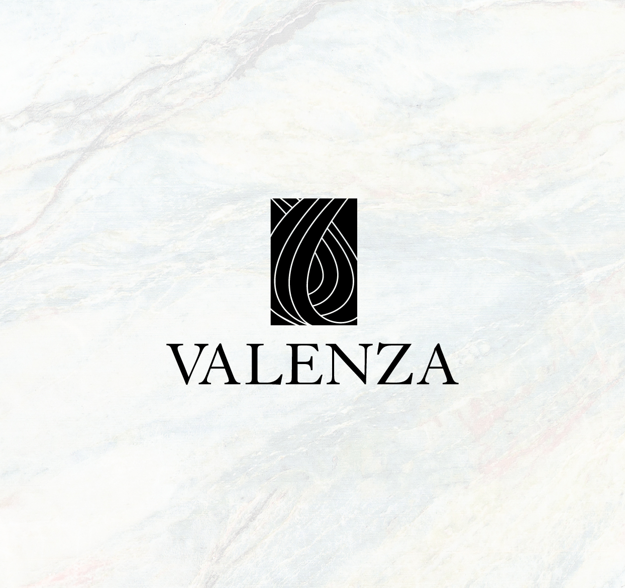 a hairstylist logo on marble background